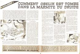 """ASTERIX Et OBELIX """" COMMENT OBELIX EST TOMBE DANS LA MARMITE DU DRUIDE  """"   1965 ( 1 ) - Objets Publicitaires"""