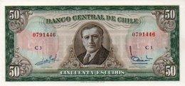 CILE Chile 50 Escudos 1947-1958 P-112 UNC - Cile
