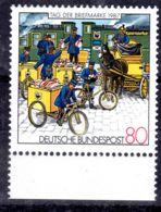 15.10.1987; Tag Der Briefmarke, Oberer Karrenrand Unterbrochen, Mi-Nr. 1337 II, Los 52554 - Errors And Oddities