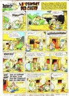 """PLANCHE """" ASTERIX Et OBELIX """"  """" LE COMBAT DES CHEFS   """"   1965 ( 6 ) - Objets Publicitaires"""