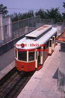 Reproduction D'une Photographie D'une Vue D'un Tramway à Crémaillère à L'arrêt De Superga-Turin En Italie De 1978 - Riproduzioni
