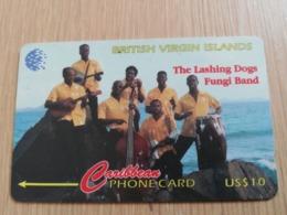BRITSCH VIRGIN ISLANDS  US$ 10  BVI-143D   LASHING DOGS    143CBVD     Fine Used Card   ** 2684** - Vierges (îles)