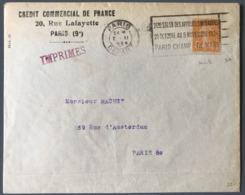 France N°158 (type IA) De Roulette Sur Enveloppe 1924 - Tarif Imprimé Local (PARIS) - (B1771) - 1921-1960: Période Moderne