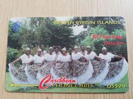 BRITSCH VIRGIN ISLANDS  US$ 20  BVI-143E   HERITAGE DANCERS    143CBVE     Fine Used Card   ** 2685** - Vierges (îles)