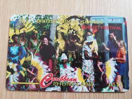 BRITSCH VIRGIN ISLANDS  US$ 5  BVI-143F   AUGUST FESTIVAL    143CBVF     Fine Used Card   ** 2687** - Vierges (îles)