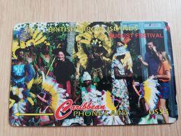BRITSCH VIRGIN ISLANDS  US$ 5  BVI-171E   AUGUST FESTIVAL    171CBVE     Fine Used Card   ** 2689** - Vierges (îles)
