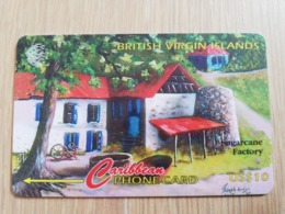 BRITSCH VIRGIN ISLANDS  US$ 10  BVI-193H   SUGARCANE FACTORY   193CBVH     Fine Used Card   ** 2690** - Vierges (îles)