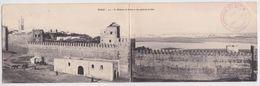 RABAT - La Médersa De Rabat Et Vue Générale De Salé Carte Double Panoramique Panorama Campagne Du Maroc 1907 - Rabat