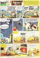 """PLANCHE """" ASTERIX Et OBELIX """"  """" LE COMBAT DES CHEFS   """"   1965 ( 9 ) - Objets Publicitaires"""