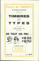 "Calalogue N° 85 , Volume VI , Des "" Timbres Et Types "" - Fachliteratur"