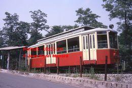 Reproduction D'une Photographie D'un Tramway à Crémaillère En Circulation De Superga-Turin En Italie De 1978 - Riproduzioni