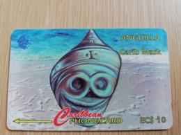 ANGUILLA  $10  GPT - CARIB MASK  NEW LOGO    141CAGA   ** 2693** - Anguilla