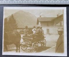 Orzières-Champex VS Pferdekutsche/Familie/aus Alte Photo Um 1900 - Lieux