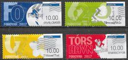 Féroé - Distributeur Y&T N° 37 / 40 - Oblitérés - Lot 219 - Faroe Islands