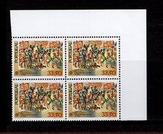 1564 CEPT Historische Ereignisse ER 4er Block O. Rechts Neuf MNH ** Postfrisch - 1910-... Republik