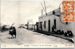 TUNISIE - ZARZIS - La Poste Et La Rue Principale - Tunisie