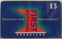 PR13 VERSIONE A-  PREPAGATA - FIRST NATIONAL USATA 5 STERLINE  - CARD EXPIRES 12 MONTHS AFTER PURCHASE  - N°  UNAN00630 - Royaume-Uni