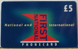 PR13 VERSIONE B - PREPAGATA - FIRST NATIONAL USATA 5 STERLINE  - CARD EXPIRES 12 MONTHS AFTER PURCHASE  - N°  57786 - Royaume-Uni