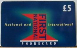 PR13 VERSIONE B - PREPAGATA - FIRST NATIONAL USATA 5 STERLINE  - CARD EXPIRES 12 MONTHS AFTER PURCHASE  - N°  57787 - Royaume-Uni
