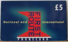 PR13 VERSIONE D - PREPAGATA - FIRST NATIONAL USATA 5 STERLINE  - SENZA SCADENZA  - N°  0235456 - Royaume-Uni