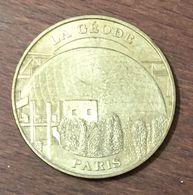 75019 PARIS LA GÉODE PAYSAGÉE MÉDAILLE MONNAIE DE PARIS 2007 JETON TOURISTIQUE MEDALS COINS TOKENS - Monnaie De Paris