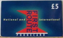 PR13 VERSIONE D - PREPAGATA - FIRST NATIONAL USATA 5 STERLINE  - SENZA SCADENZA  - N°  0238130 - Royaume-Uni