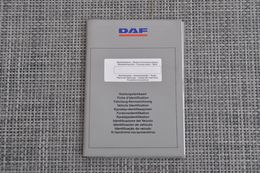 Brochure-leaflet: DAF Trucks Eindhoven ITS Voertuigstamkaart 1989 - Camion