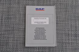 Brochure-leaflet: DAF Trucks Eindhoven ITS Voertuigstamkaart 1989 - Trucks