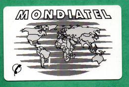 RARE!!! Ancienne Carte Prépayée MONDIATEL / PARIS MAPPEMONDE N° 5  (Voir Photos Recto/verso Et Description) - France