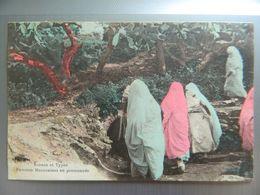 SCENES ET TYPES        FEMMES MAROCAINES EN PROMENADE - Maroc