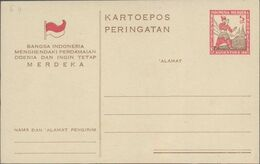 Indonesia 1946 - JAVA, Netherlands Indies, Independence Commemorative Stationery Card MERDEKA. - Niederländisch-Indien