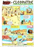 """PLANCHE """" ASTERIX Et OBELIX """"  """" ASTERIX Et CLEOPATRE """"   1964 ( 3 ) - Objets Publicitaires"""