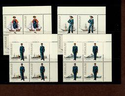 1588 - 1591 Uniformen Marine ER 4er Block O. Rechts Neuf MNH ** Postfrisch - 1910-... Republik