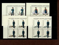 1588 - 1591 Uniformen Marine ER 4er Block O. Links Neuf MNH ** Postfrisch - 1910-... Republik