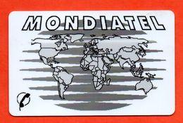 RARE!!! Ancienne Carte Prépayée MONDIATEL / MARSEILLE MAPPEMONDE N° 5  (Voir Photos Recto/verso Et Description) - France