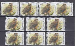 Belgie 2004 Buzin, Oehoe / Uil 1w (10x) ** Mnh (48770) Face 40.00 Euro @ 65% - 1985-.. Oiseaux (Buzin)