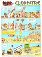 """PLANCHE """" ASTERIX Et OBELIX """"  """" ASTERIX Et CLEOPATRE """"   1964 ( 4 ) - Objets Publicitaires"""