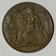 Pièce En Cuivre. Belgique. XXV Anniversaire De L'inauguration Du Roi Lépolod I 1856. - Royaux / De Noblesse