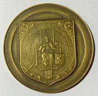 Médaille. Sigillu Scabinorum De Uccle. Armoiries Et Sceau D'Uccle. Royal Uccle Sport Tennis Dames 1971. 50mm - Professionnels / De Société