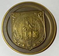 Médaille. Sigillu Scabinorum De Uccle. Armoiries Et Sceau D'Uccle. René Gouverneur 1976. 50mm - Professionnels / De Société