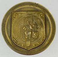 Médaille. Sigillu Scabinorum De Uccle. Armoiries Et Sceau D'Uccle. René Gouverneur 1971. 50mm - Professionnels / De Société