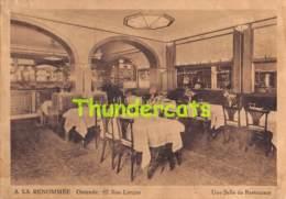 CPA OOSTENDE OSTENDE HOTEL RESTAURANT A LA RENOMMEE - Oostende