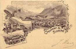 SUISSE  SIERRE Souvenir De ....  (style Gruss) - VS Wallis