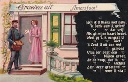 481812Amersfoort, Groeten Uit Amersfoort. – 1916. (zie Hoeken) - Amersfoort