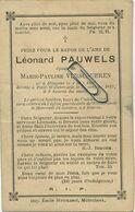 Léonard Pauwels :  Hingene 1828 -  Petit Willebroek 1892     (  See  Scans ) - Images Religieuses