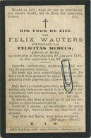 Felix Wauters :  Ertvelde 1831 - 1894     (  See  Scans ) - Images Religieuses