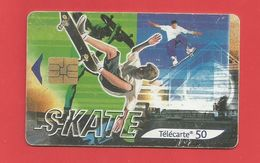 TELECARTE 50 U  TIRAGE 1 500 000 EX Sport Le Skate - Francia