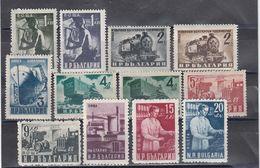 Bulgaria 1950 - Freimarken: Volkswirtschaft, Mi-Nr. 723A/30A+770/73, MNH** - 1945-59 République Populaire