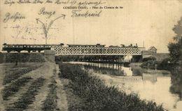 FELDPOST  Comines (Nord) La Lys. - Le Pont Du Chemin De Fer  RAILWAY CHEMIN DE FER  WWI WWICOLLECTION - Sonstige