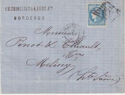 "FRANCE : N° 46 . OBL . GC 532 . "" BORDEAUX "" . TB . 1871 . - 1849-1876: Klassik"